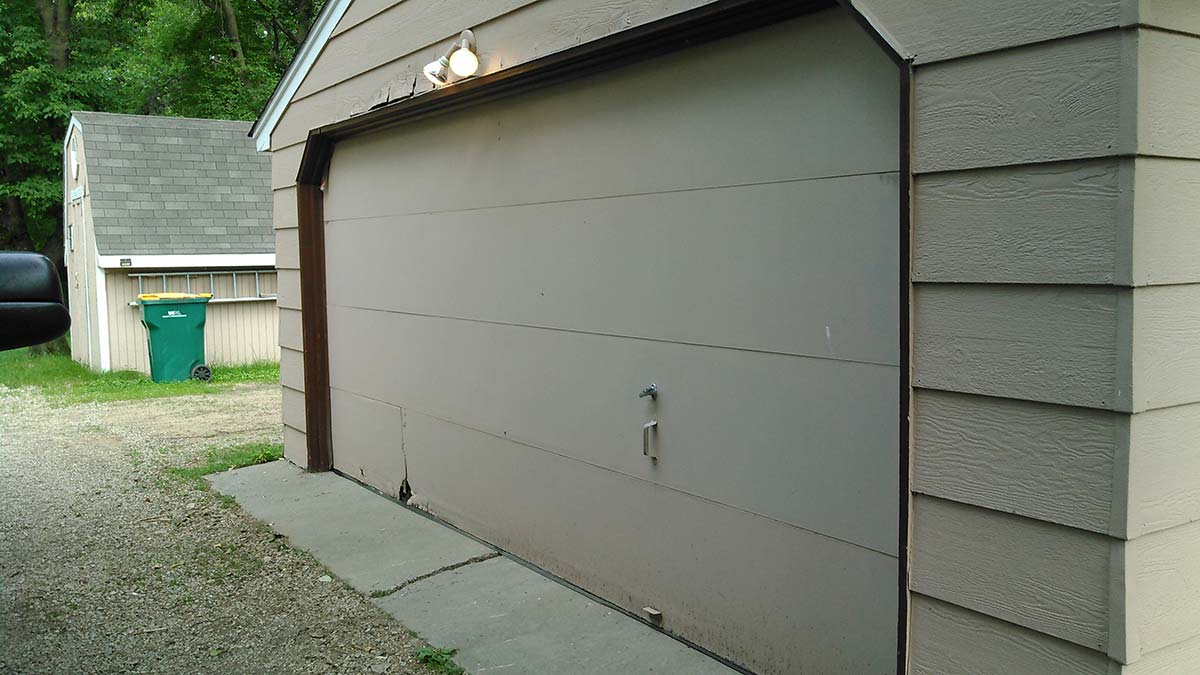 Garage Door Before Photo