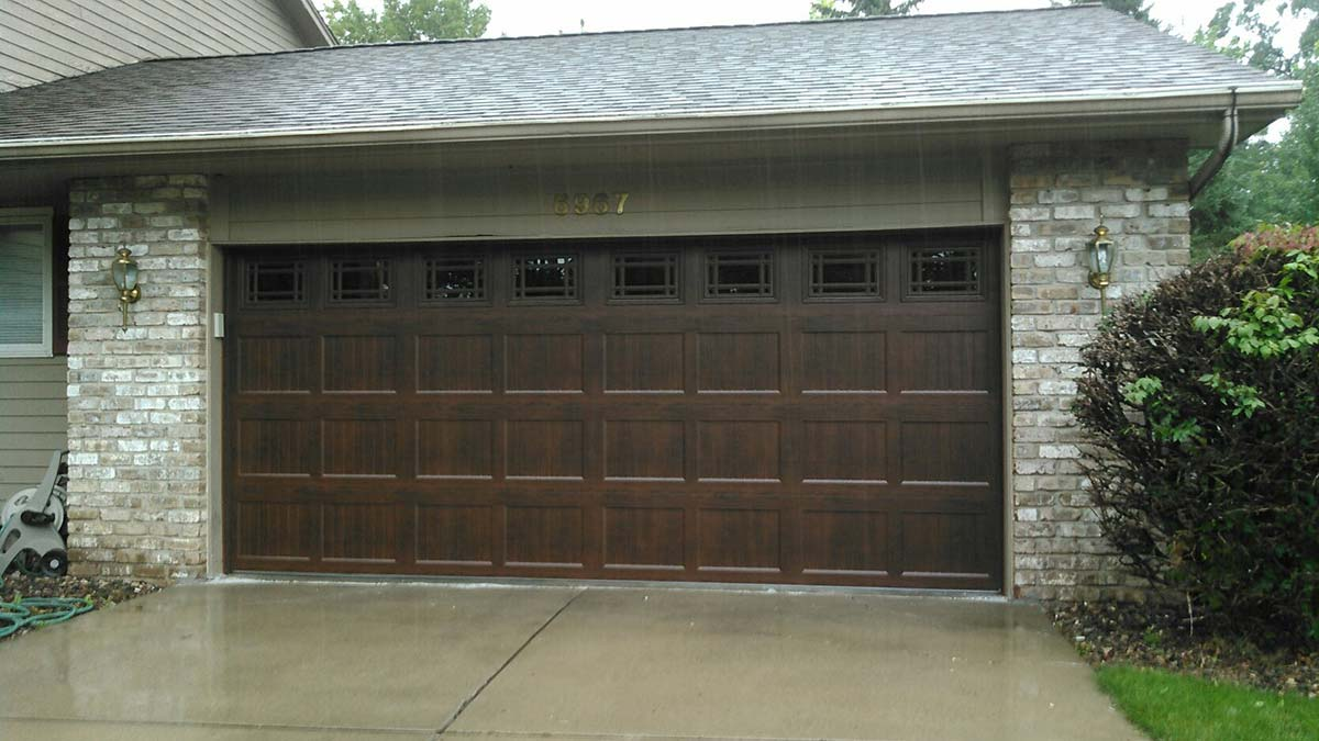 New Dark Door Garage Door