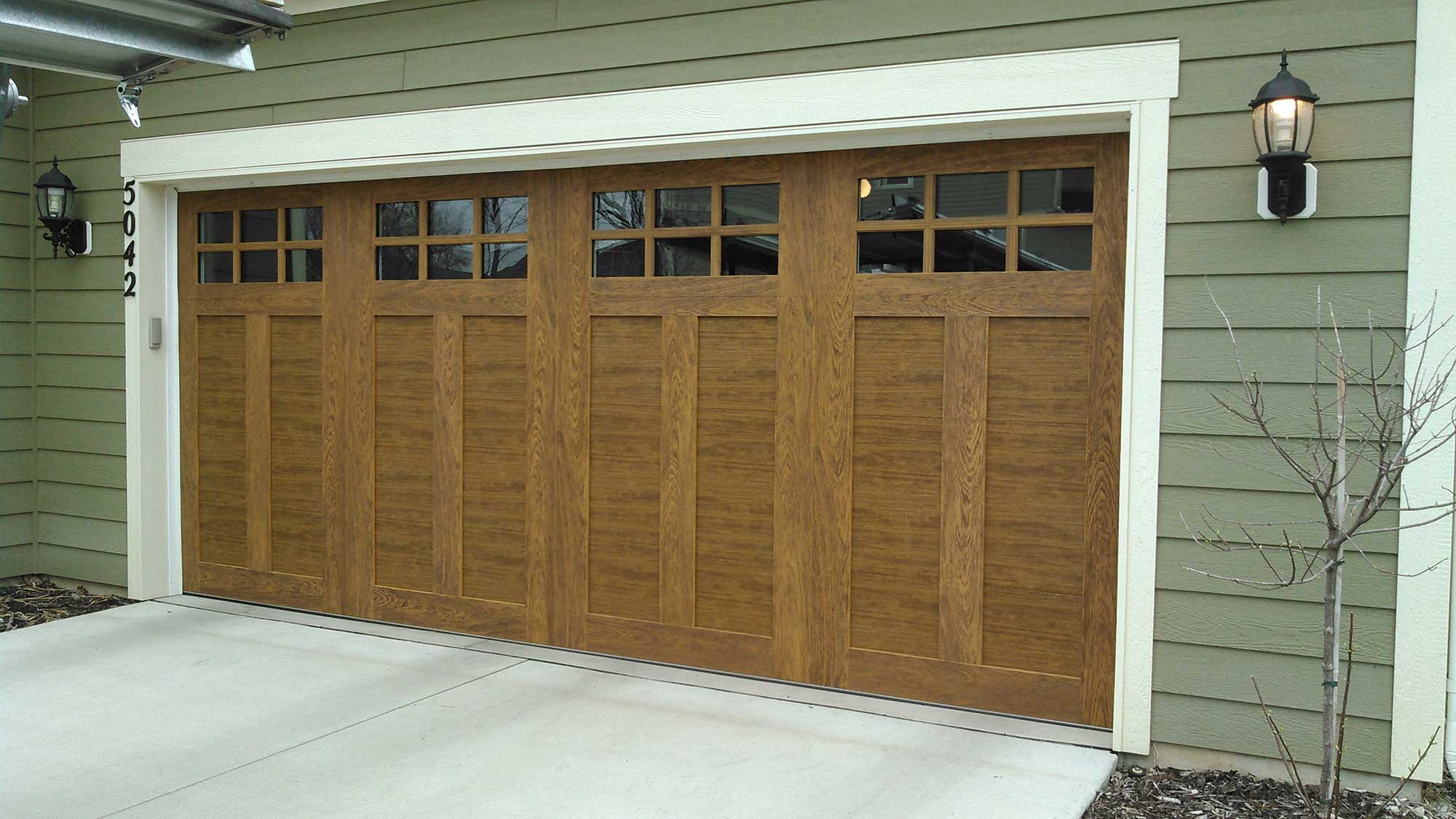 Professional Garage Door Services New Wood Grain Garage Door With Windows